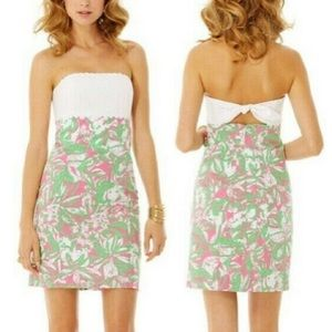 Lilly Pulitzer Franco Dress White Pink Green